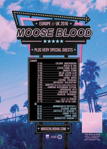 Moose Blood tourposter - Hopeless Records