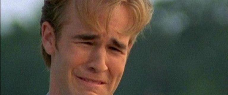 liefdesverdriet liedjes, huilen, janken, janknummers, verdrietig, Top 5 liedjes om over je ex heen te komen, dawson's creek, dawsons creek, Dawson Crying - Bron Screenshot YouTube