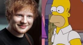 Ed Sheeran gastrol The Simpsons - Eigen creatie (foto Eva Rinaldi en YouTube)