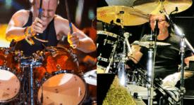 Lars Ulrich (Metallica) en Phil Rudd (AC/DC) -Eigen creatie