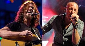 Chris Cornell en Chester Bennington - Foto eigen creatie, origineel van Focka en Gansb (Flickr en Wikimedia)