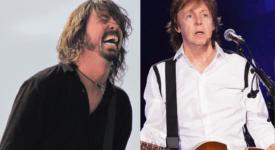 Dave Grohl (Foo Fighters) en Paul McCartney - Foto: eigen creatie, origineel van Jimmy Baikovicius en Ryanw2313