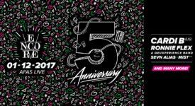 Encore 5 Year Anniversary - Bron: BAAS persbericht