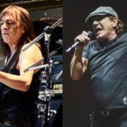Malcolm Young en Brian Johnson (AC/DC) - Foto's: Raph_PH en Pandemonium73 (Flickr, Wikimedia)