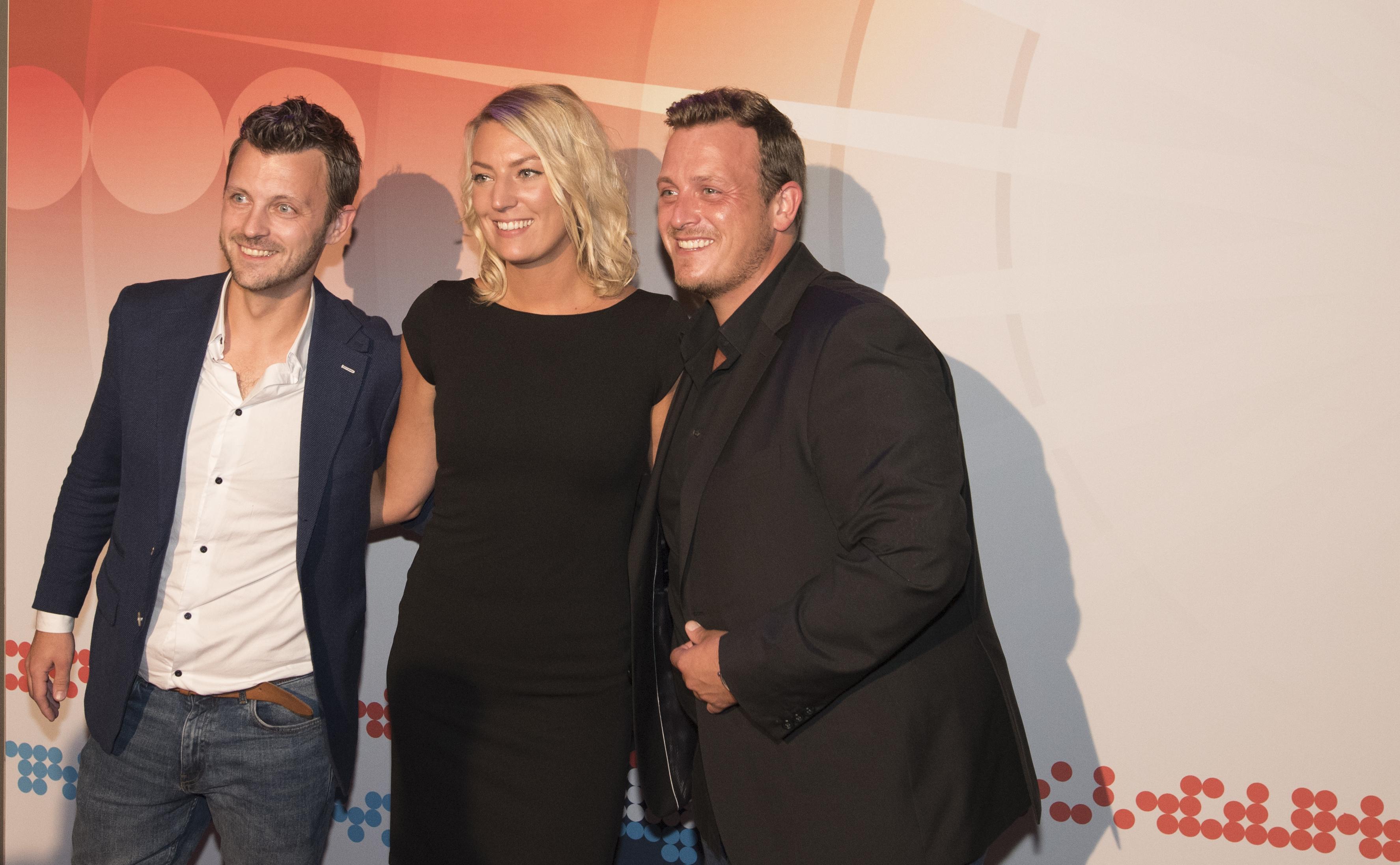 Michael Hartkamp, Yannick Berends en Joey Hartkamp tijdens Buma NL Awards 2017 - Fotocredits: Shali Blok (ArtiestenNieuws)