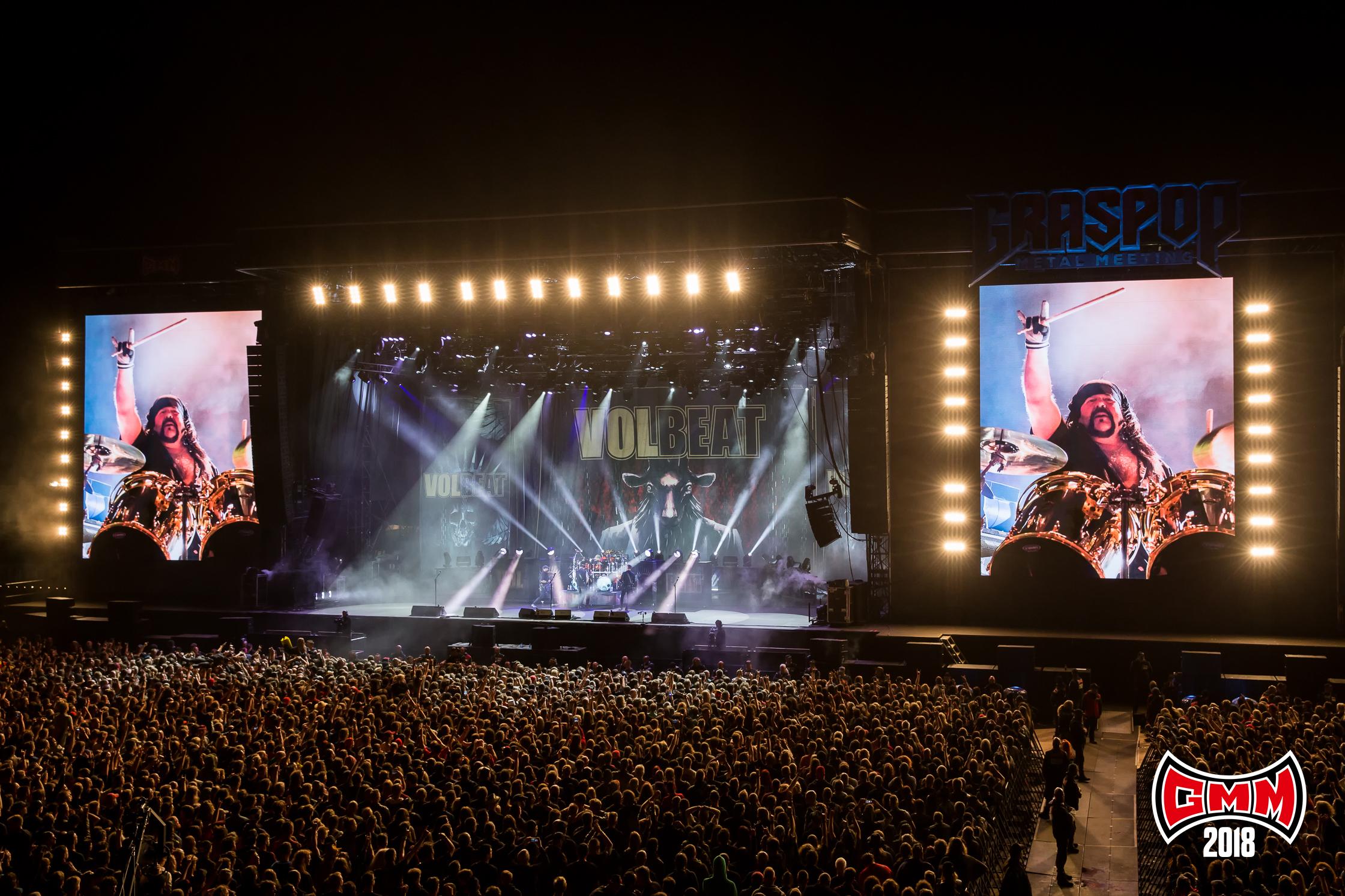 Volbeat eert Vinnie Paul - Foto Dorien Goetschalckx (Graspop Metal Meeting) - PERSFOTO, NIET VOOR ANDERE ARTIKELEN GEBRUIKEN