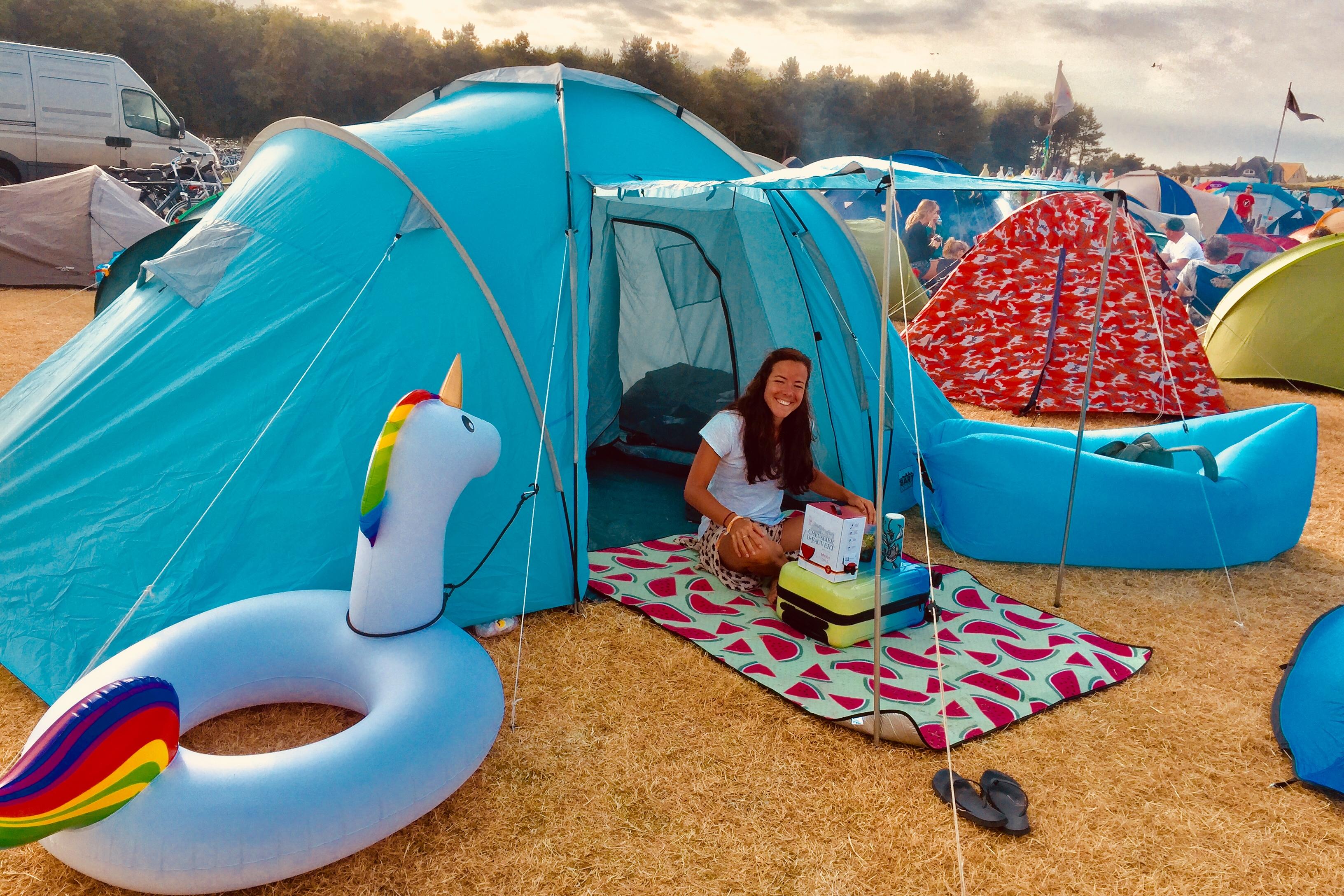 tent, camping, MadNes Festival 2018 - Fotocredits Djuna Vaesen (ArtiestenNieuws)