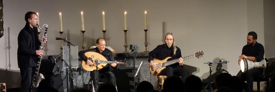 Anouar Brahem Quartet - Foto Hajowi-man (wikimedia, CC BY-SA 4.0)