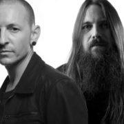 Mark Morton (Lamb of God) en Chester Bennington (Linkin Park) - Foto uit persbericht Petting Zoo Propaganda (zie mail)
