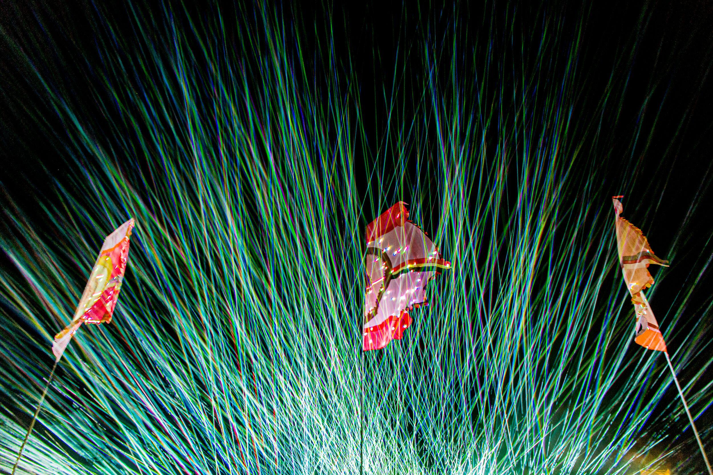 Lasershow tijdens Pukkelpop 2019 - Fotocredits: Jokko - Bron: Persfoto Pukkelpop