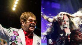 Elton John en Ozzy Osbourne - Foto's: Raph_PH en Harmony Gerber (Wikimedia Commons, CC BY 2.0)