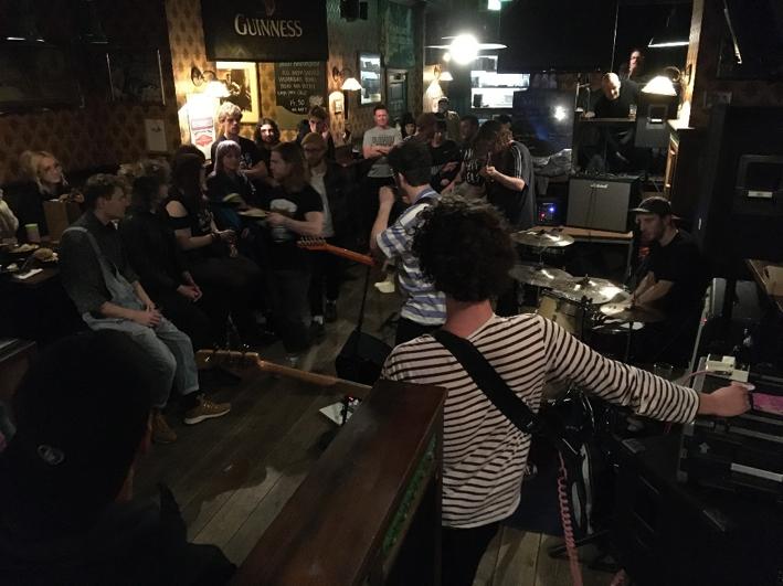 Magnetic Spacemen tijdens Lively Music Showcase - Foto: René Rosierse (Artiesten Nieuws)